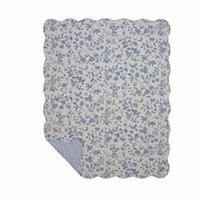 Brighton Blue Toile Throw | Atlantic Linens