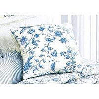 Brighton Blue Toile Quilted Throw Pillow | Atlantic Linens