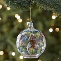 European Glass Hanging Owl Ornament