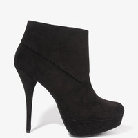 Asymmetrical Cuff Booties