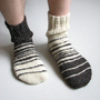 Asymmetrical Hand Knitted Men's Socks by milleta on Etsy