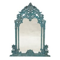 Vintage Cyan Rose Mirror - Belle Escape