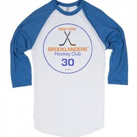 NY Brooklanders Hockey Club-Unisex White/Lake Blue T-Shirt