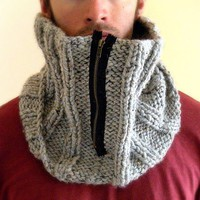 Man Cowl with zipper