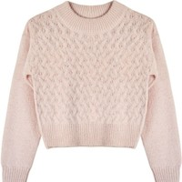 Lover Crop Basket Sweater