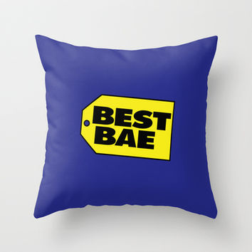 Best Bae Throw Pillow by RexLambo