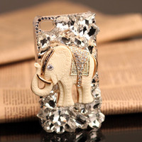 Gullei Trustmart : iPhone 4S 4G 3GS animals case white elephant birthday gift for her [GTMIPC008] - $39.00 - Couple Gifts, Cool USB Drives, Stylish iPad/iPod/iPhone Cases & Home Decor Ideas