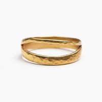 Bauxo Womens Equality Ring - Gold Plated