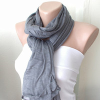 Grey Gray  Cowl, Tube Scarves
