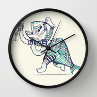 Selfishy Wall Clock by Alejandro Giraldo