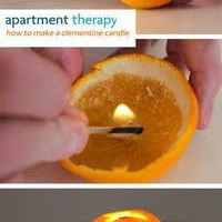 Natural Lighting from an Orange.
