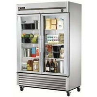 True T-49G Glass Door Refrigerator Two Doors, 49 Cu. Ft. Capacity