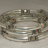 Crystal and tubes bracelet, Vitrail