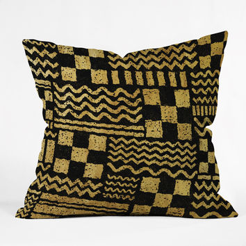 Nick Nelson Gold Fuse Throw Pillow - Indoor /