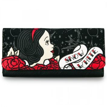 """""""Snow White Tattoo Flash"""" Wallet by Loungefly (Black)"""