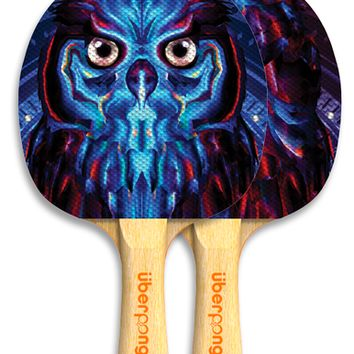 Electric Owl Ping Pong Paddle by Uberpong