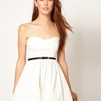 Oh My Love Tutu Bandeau Skater Dress at asos.com