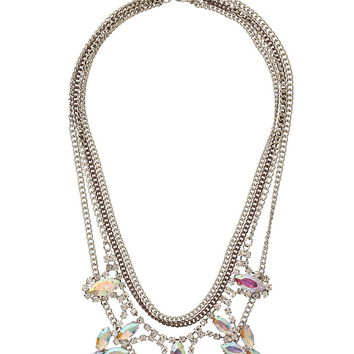 Multi chain statement necklace