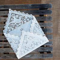 Lace Envelopes, Set of 20, DIY wedding kits