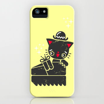 Cat In Platform Shoe iPhone & iPod Case by Chobopop