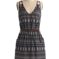 Patterns of Action Dress | Mod Retro Vintage Printed Dresses | ModCloth.com