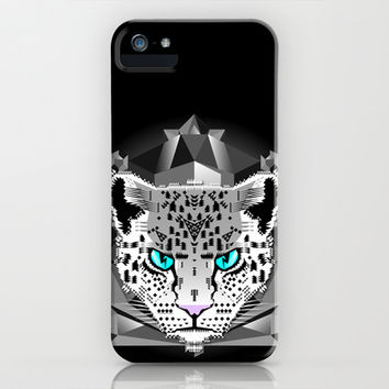 Snow Leopard iPhone & iPod Case by Chobopop