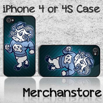 North Carolina Rameses Prod Mascot Logo Custom iPhone 4 or 4S Case Cov