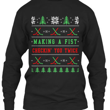 Ugly Hockey Christmas Sweater Shirt