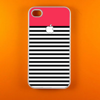 Iphone 4 Case - Red White Stripes Iphone 4s Case, Iphone Case