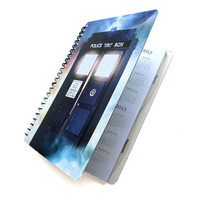 TARDIS 2012 2013 Daily Planner Dr. Who UpCycled Academic Agenda The Doctor