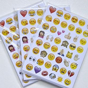 Emoji Sticker Pack-Instagram,Facebook,Twitter iPhone Emoji sticker, 20 sheets/pack- 960 Stickers