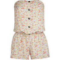 FULL TILT Floral Button Front Tube Romper 194468957 | Rompers &amp; Overalls | Tillys.com