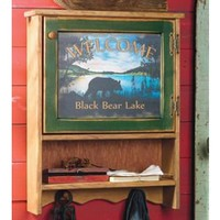 Black Bear Lake Wall Cabinet
