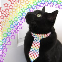 Over the Rainbow  Pet Tie by SnoopCattyCatt on Etsy