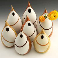 Porcelain Choir Family Vase Centerpiece Set