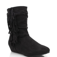 suede-fringe-booties BLACK BROWN DKBLUE NATURAL - GoJane.com