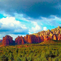 RED ROCKS photograph sedona arizona mountains by aetherstudio