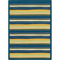 Joy Carpets Just for Kids Yipes Stripes Bold Kids Rectangle Rug - 1539B-RE - Striped Rugs - Area Rugs by Style - Area Rugs