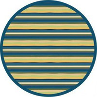 Joy Carpets Just for Kids Yipes Stripes Bold Kids Round Rug - 1539B-RD - Striped Rugs - Area Rugs by Style - Area Rugs