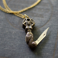 Mermaid Pocket Knife Necklace - Limited Edition