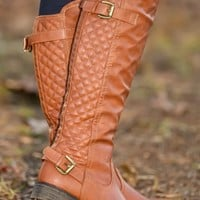 Stylish In The Snow Boots-Cognac