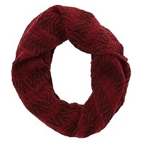 Mixed Pattern Infinity Scarf by Charlotte Russe - Oxblood