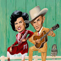 Patsy Cline and Hank Williams