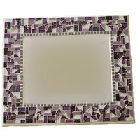 Mosaic Mirror, Purple and White