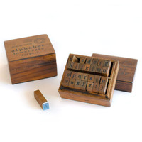 Lowercase Alphabets Stamp Set - wood