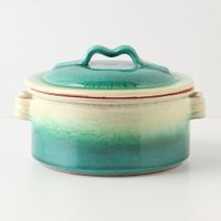 Emerald Ombre Covered Dish - Anthropologie.com
