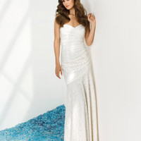 Madame Bridal: Dessy Sandals Dress 1021