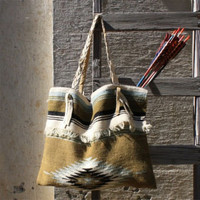 Nanum Indian Inspired Tote, In the Navajo style Leather Bags & Totes