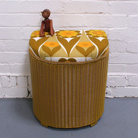 Winter's Moon ? Vintage Lloyd Loom Laundry Basket - SOLD