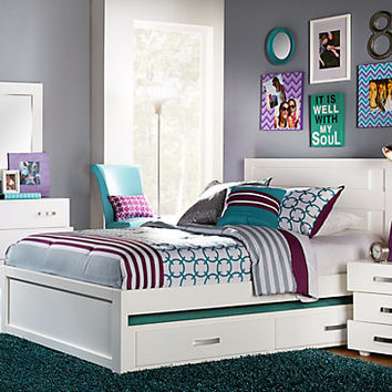 Quake White 5 Pc Full Panel Bedroom